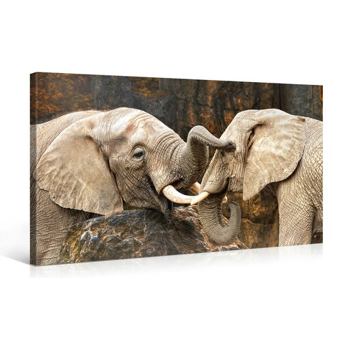 Elephant Love Art Art Elephant Love Canvas