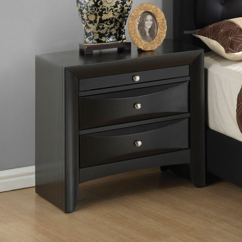 Glory Furniture 3 Drawer Nightstand Reviews Wayfair
