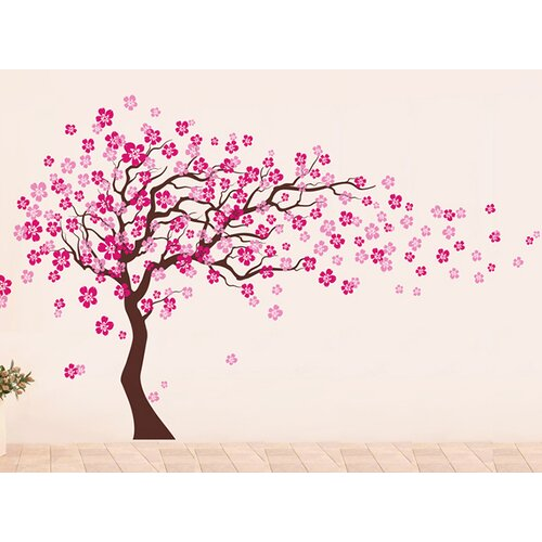 Wall Art Decals Cherry Blossom : Pop decors cherry blossom tree removable vinyl art wall