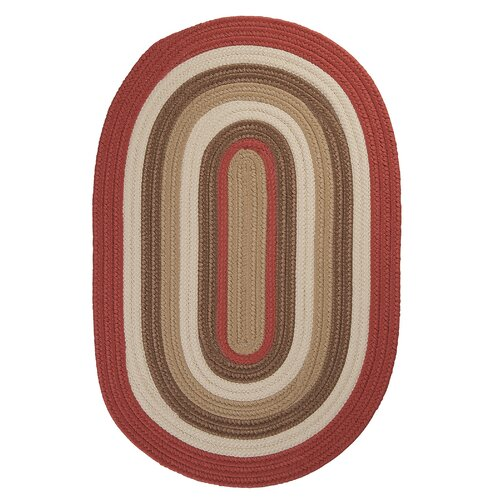 Colonial Mills Brooklyn Terracotta Braided Indoor/Outdoor Rug