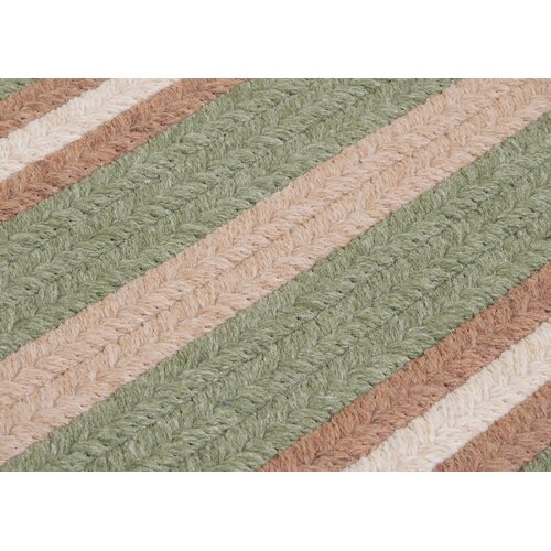 Colonial Mills Salisbury Green Striped Sample Swatch