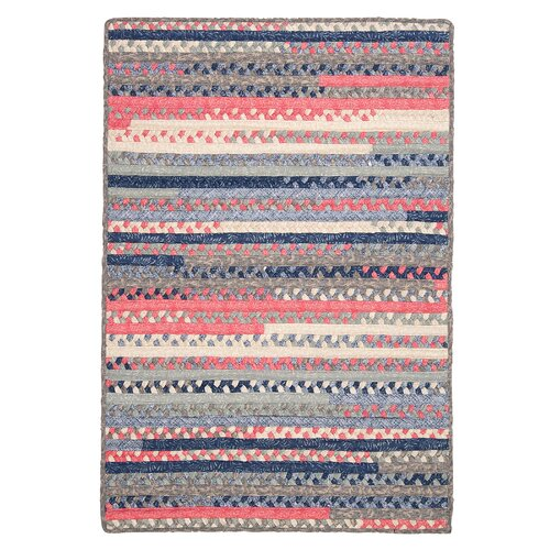 Colonial Mills Print Party Rects Blue Rug