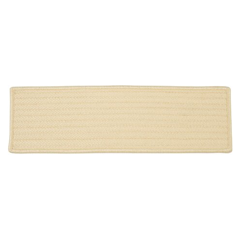 Simply Home Solid Cream Stair Tread