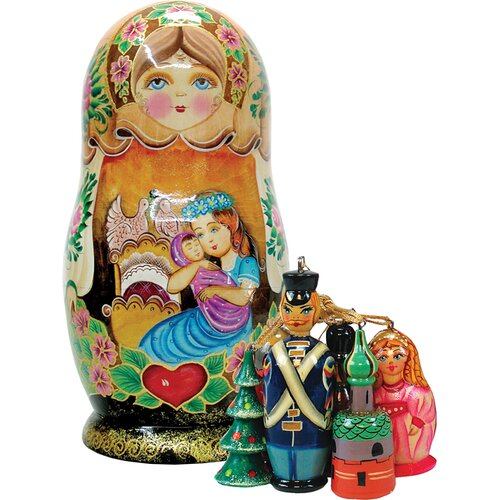 Russia Mother Love Ornament Doll