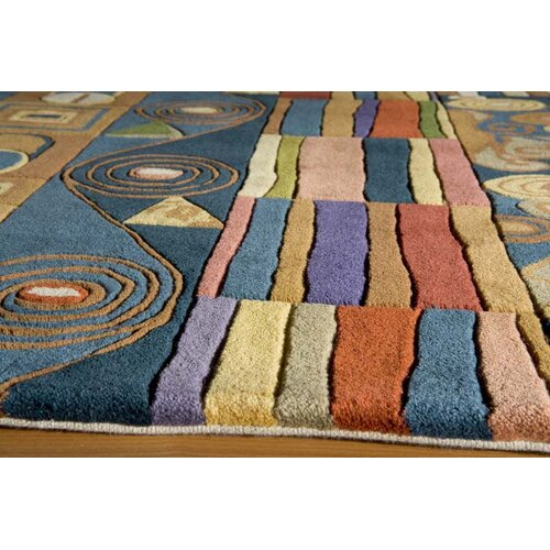 Momeni New Wave Blue Area Rug & Reviews