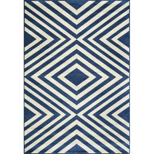 Momeni Baja Navy Indoor/Outdoor Rug