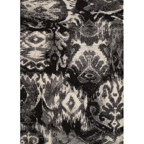 Momeni Heavenly Black/Gray Plants Tufted Area Rug