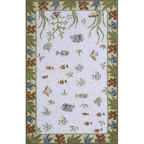 Momeni Coastal Light Blue Novelty Rug
