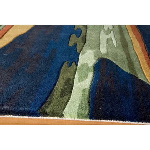 Momeni New Wave Navy Rug
