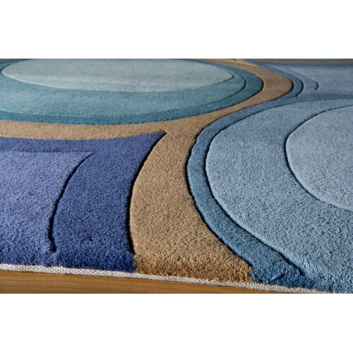Momeni New Wave Blue Rug