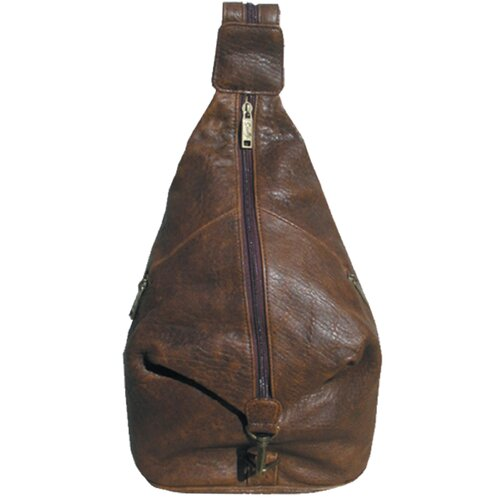 Scully Distressed Leather Pebble Calf Travel Sling