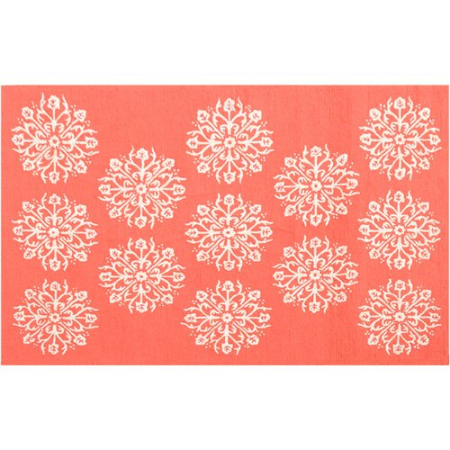 Wildon Home ® Hyannis Coral Floral Rug