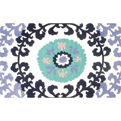 Suzani Blue Floral Rug
