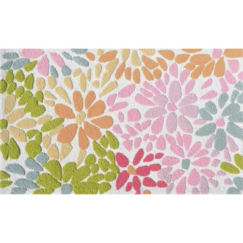 Wildon Home ® Crazy Daisy Pink/Green Floral Rug