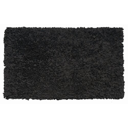 The Rug Market Shaggy Raggy Black Kids Rug