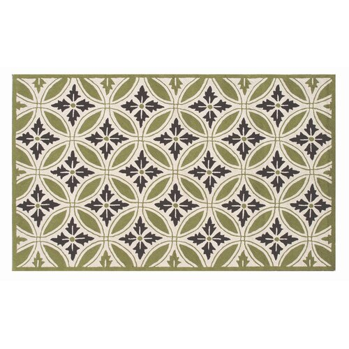 The Rug Market Resort Florin Green / Ivory Outdoor Rug