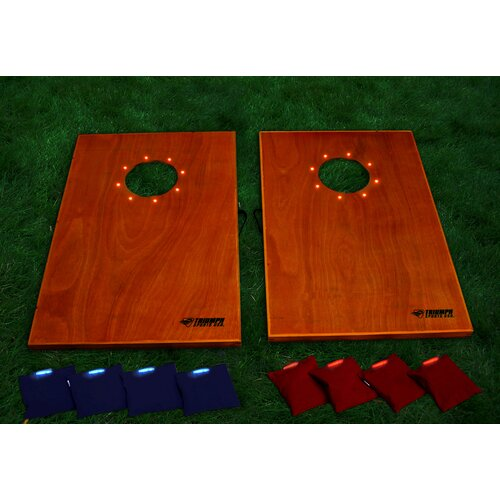 Triumph Sports USA Lighted Solid Wood Bag Toss Tournament Game Set