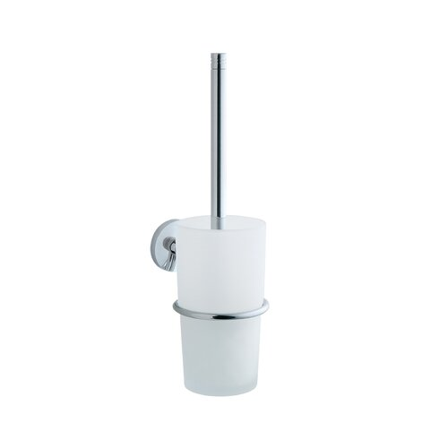 Smedbo Studio Toilet Brush with Frosted Glass Container