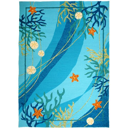 Homefires Underwater Coral and Starfish Indoor/Outdoor Rug