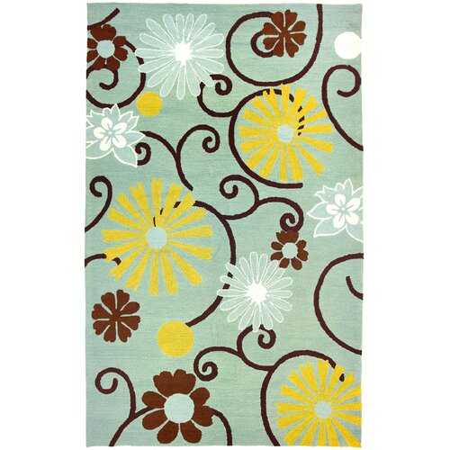 Homefires Daisies On Spa Blue