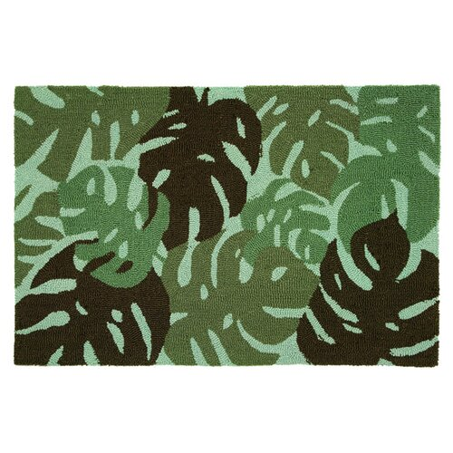 Homefires Tropical Leaves - Green Rug