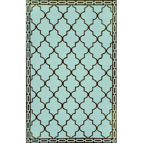 Trans-Ocean Rug Ravella Floor Tile Aqua Indoor/Outdoor Rug