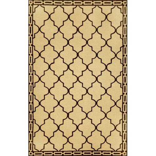 Trans-Ocean Rug Ravella Floor Tile Wheat Indoor/Outdoor Rug