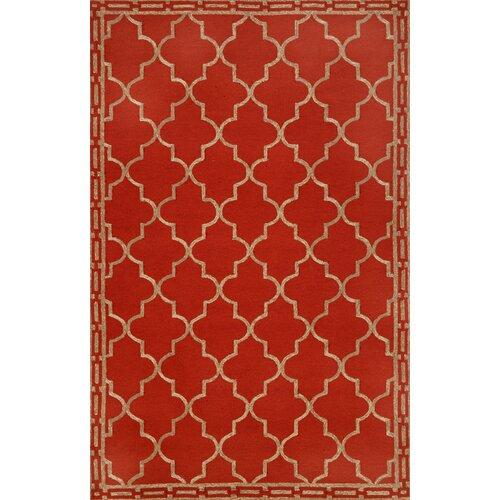 Trans-Ocean Rug Ravella Floor Tile Red Indoor/Outdoor Rug