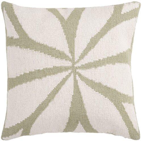 Surya Lush Leaf Pillow