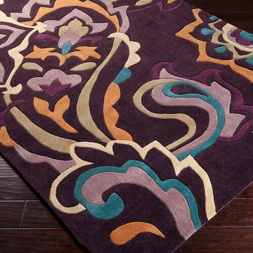 Surya Cosmopolitan Red Grape Rug