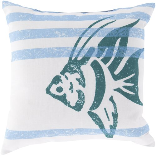 Stripes and Fish Pillow