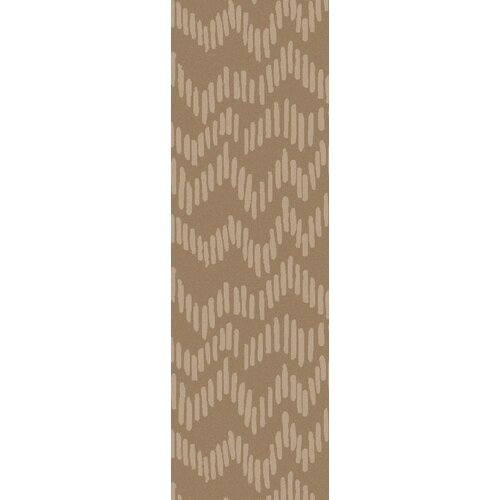 Stamped Light Gray Geometric Rug