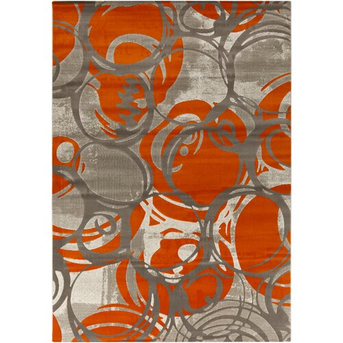 Surya Jax Burnt Orange Gray Area Rug Amp Reviews Wayfair