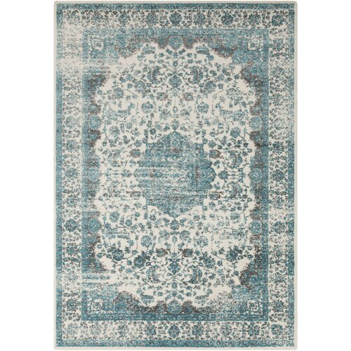 Surya Aberdine Light Gray/Teal Area Rug & Reviews