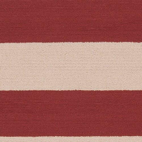 Surya Rain Carnelian/Parchment Striped Indoor/Outdoor Rug