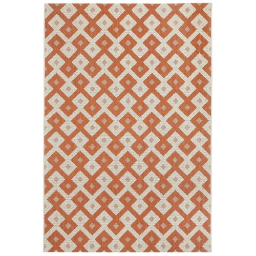 Elsinore Cinammon Diamond Indoor/Outdoor Rug