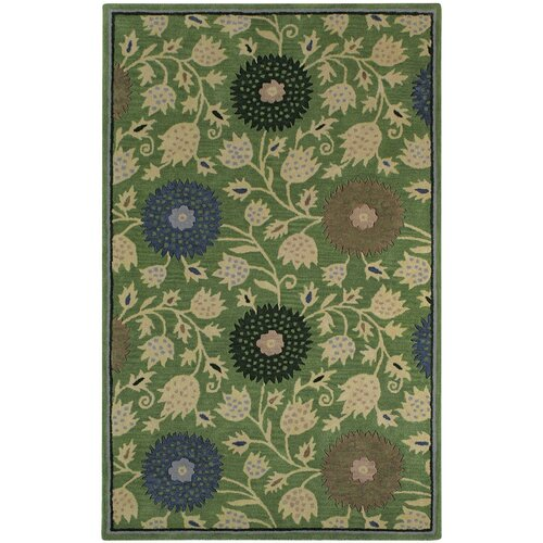 Williamsburg Green Patricia Polka Dots/Vines Rug