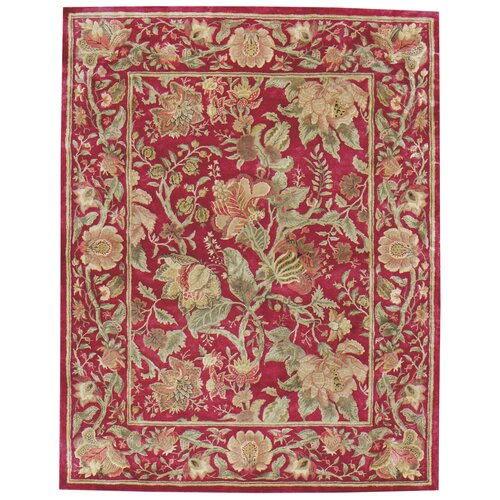 Capel Rugs Garden Farms Red Floral Rug