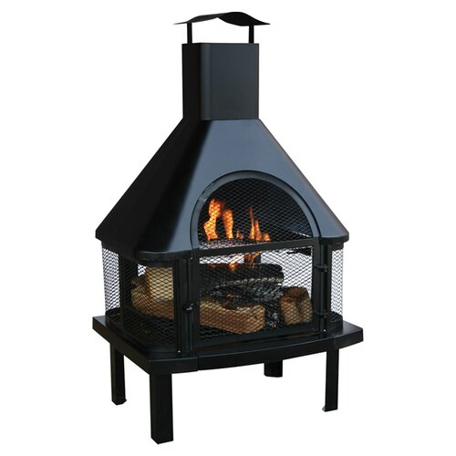 Uniflame Outdoor Firehouse & Reviews