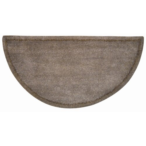 Uniflame Corporation Hand Tufted 100% Wool Hearth Rug in Beige