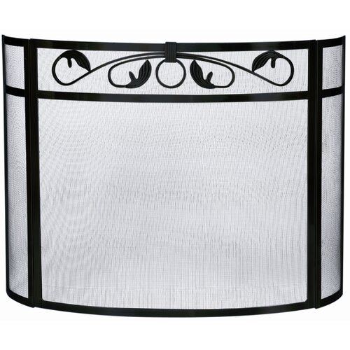 Uniflame Corporation 3 Panel Wrought Iron Bow Fireplace Screen