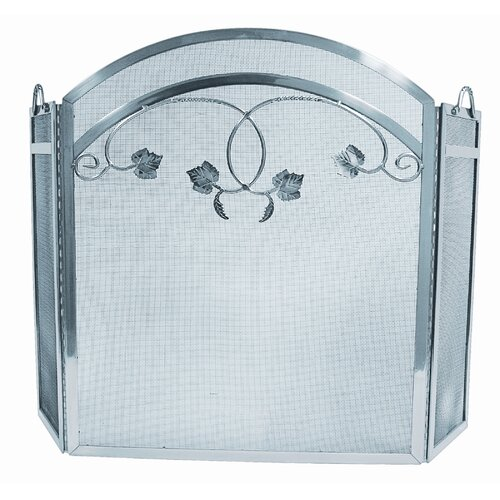 3 Fold Pewter TopLeaf Design Screen