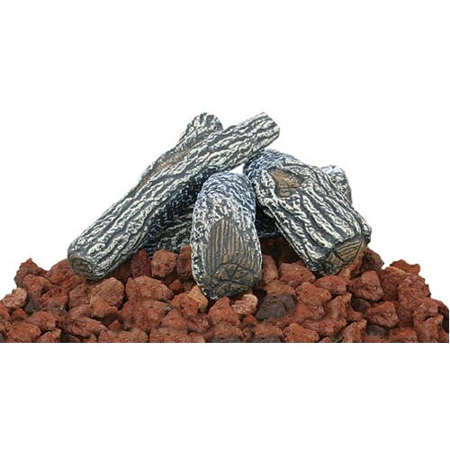 Uniflame Corporation Lava Rock and Log Kit For Outdoor Fire Pits