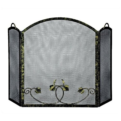 3Fold AntiqueGold BottomLeaf Screen
