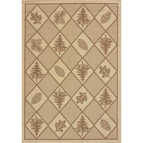Solarium Pine Brown Indoor/Outdoor Rug