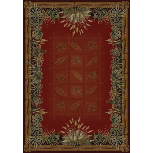 United Weavers of America Genesis Palmetto Olefin Face Novelty Rug