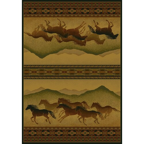 United Weavers of America Genesis Chestnut Mare Lodge Novelty Rug