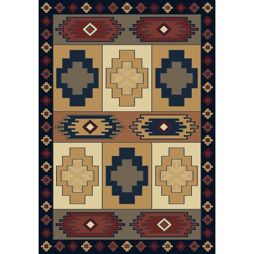 United Weavers of America Manhattan Tuckahoe Navy/Beige Rug