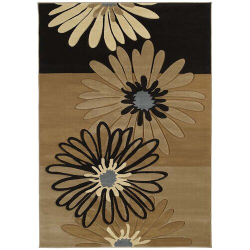 United Weavers of America Contours Dahlia Chocolate Rug