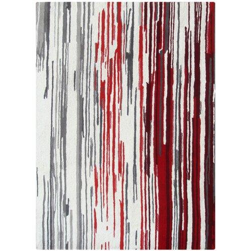 Boardwalk Off-White/Red Rug
